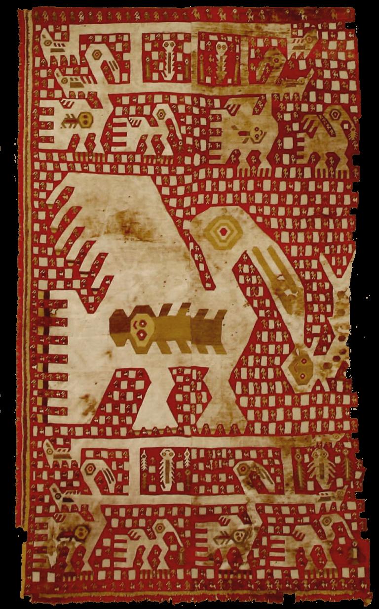 Textil mural con pelícanos